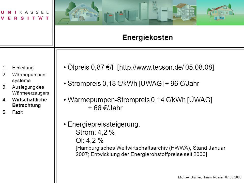 Energiekosten Ölpreis 0,87 €/l [http://www.tecson.de/ 05.08.08]
